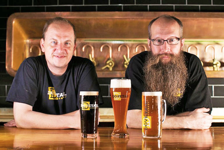 Hagen Dost and Bill Wesselink of Dovetail Brewery