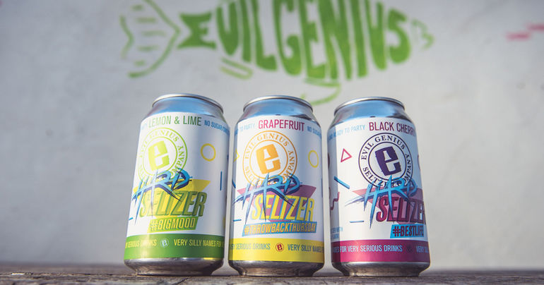 Evil Genius Beer Co. Introduces Hard Seltzer Line