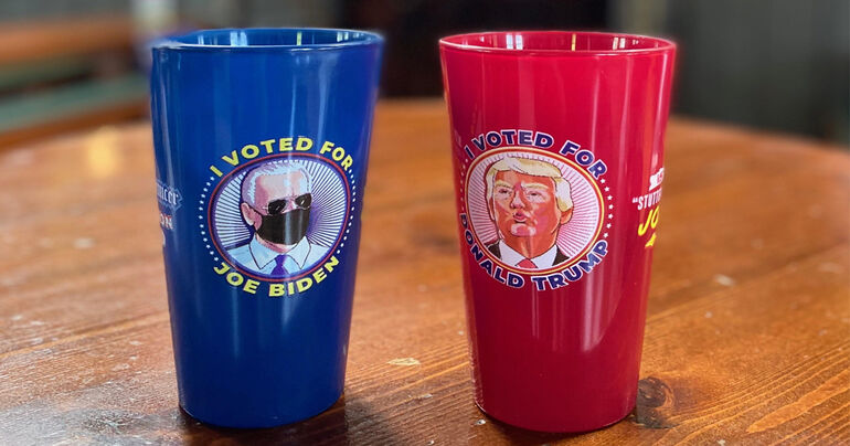 Flying Saucer Draught Emporium Launches 2020 Election Glasses