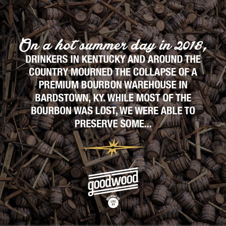 Goodwood Brewing Co. Launches Goodwood Spirits Line, First Release is Goodwood Stout Bourbon
