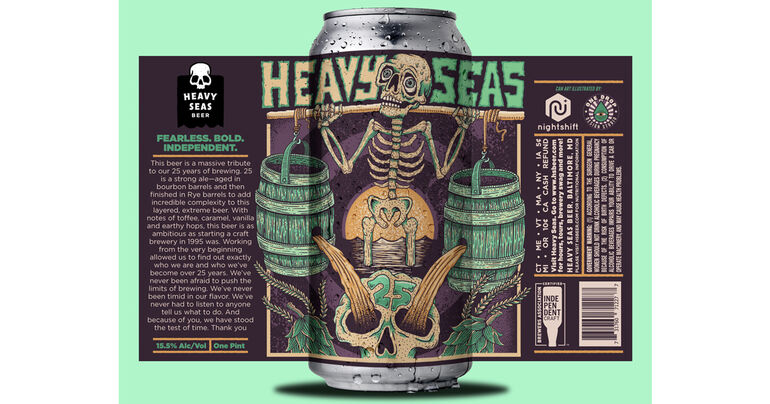 Heavy Seas Beer Announces 25th Anniversary Beer and Virtual Celebration
