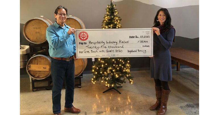 """Highland Brewing Co.'s """"Give Back with Gaelic"""" Campaign Raises 25K for Hospitality"""