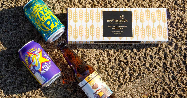 Moonstruck Chocolate Partners with 3 West Coast Breweries on Chocolate Collection