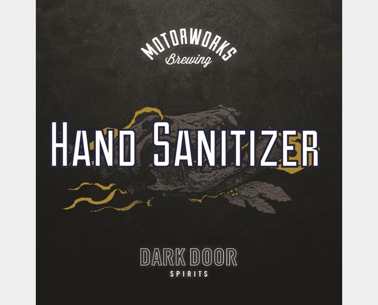 Motorworks Brewing Releases Beer Hand Sanitizer for the Coronavirus with Dark Door Spirits