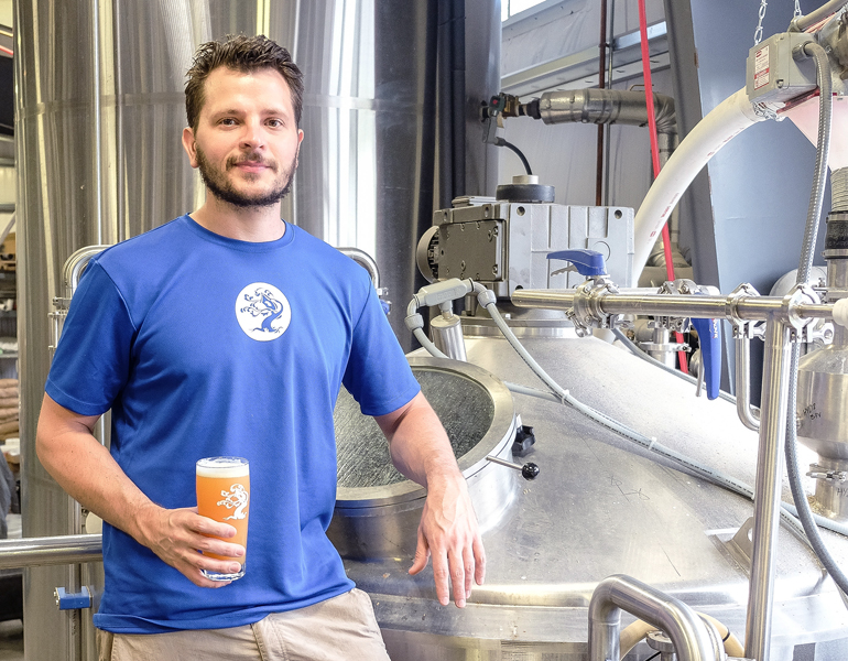 "Nate Lanier of Tree House Brewing: ""We really are living the dream."" (Photo Credit: Lauren Lanier)"