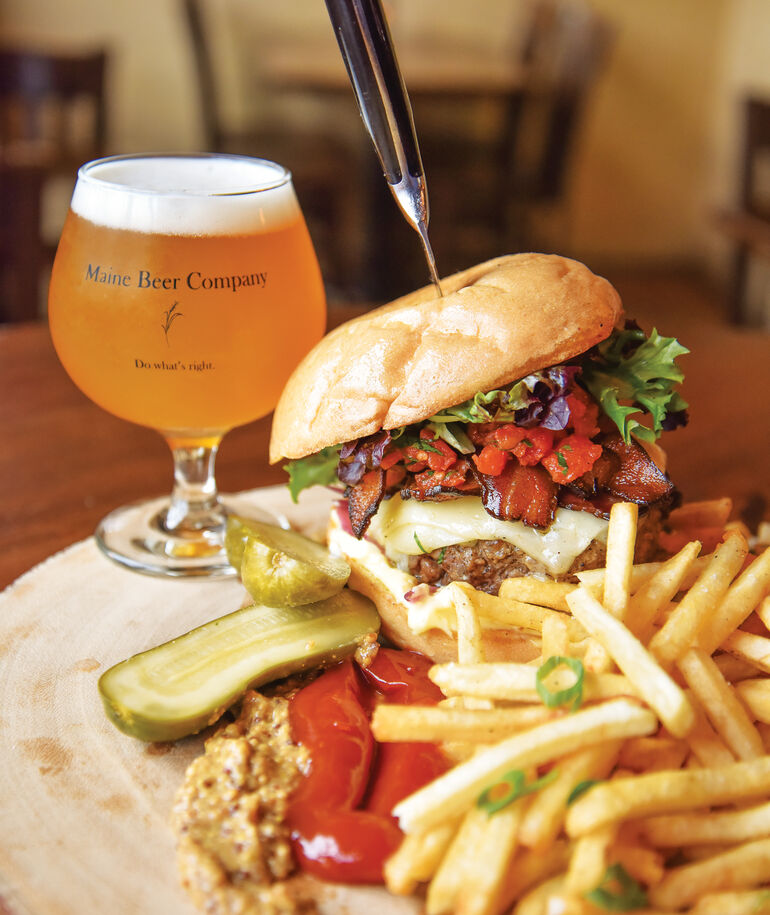 New England-Style Burgers and Beer