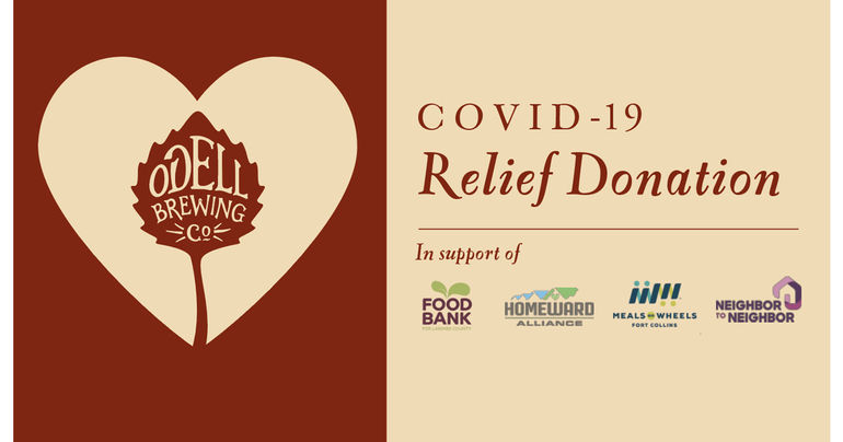 Odell Brewing Donates $160,000 to Colorado Residents Impacted by COVID-19