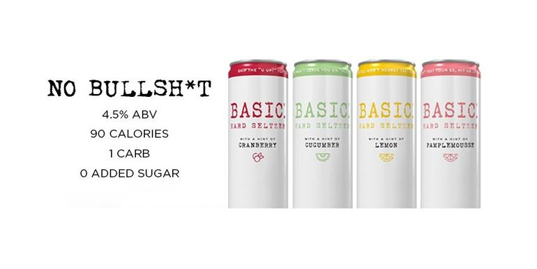 Phusion Projects Unveils Basic Hard Seltzer in 4 Flavors