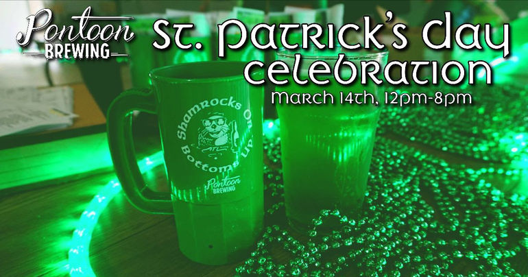 Pontoon Brewing Announces St. Patrick's Day Festivities and Tap List