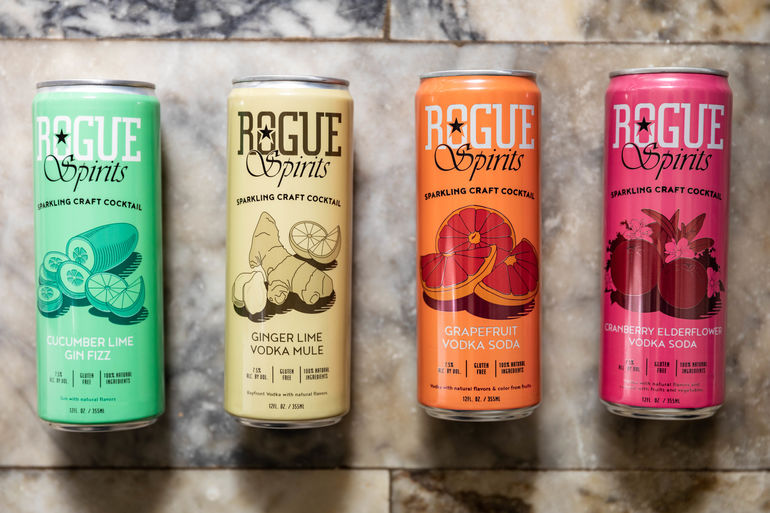 Rogue Spirits Sparkling Craft Cocktails Available in Cans Nationwide