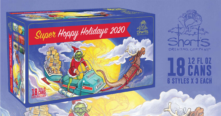 """Short's Brewing Co. Releases """"Super Hoppy Holidays"""" Variety Pack Aiming to Bring Joy to 2020"""