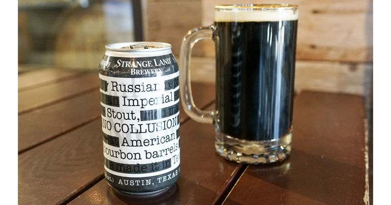 Strange Land Brewery Releases No Collusion Imperial Stout