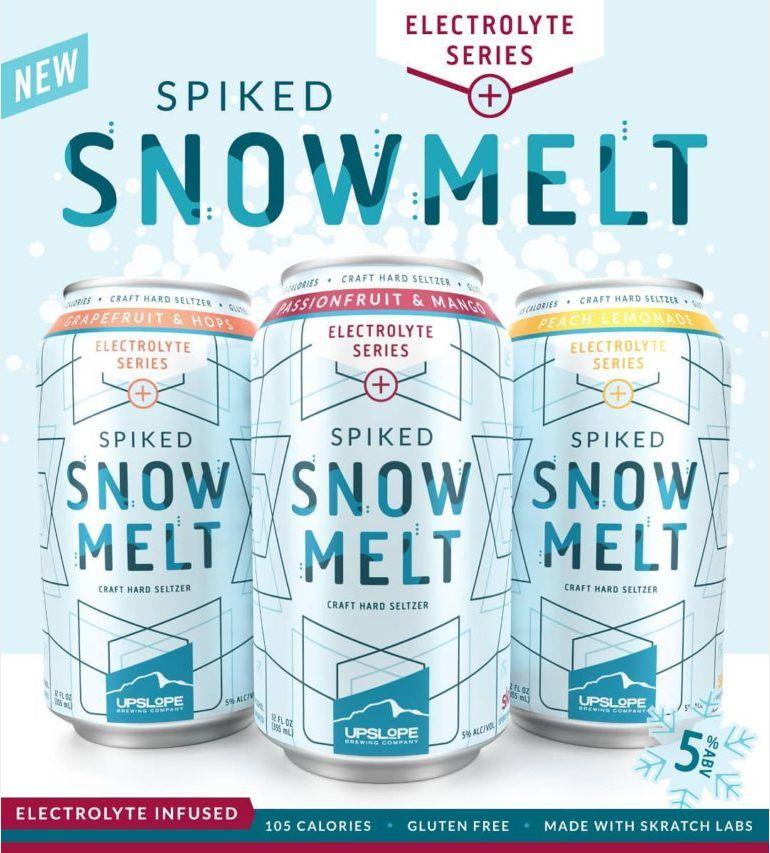 Upslope Brewing Unveils Electrolyte Series Spiked Snowmelt Hard Seltzer