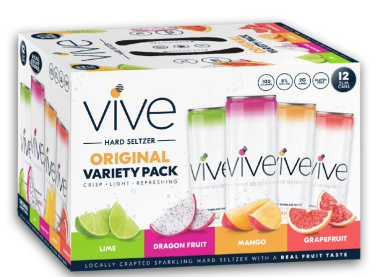 VIVE Hard Seltzer Refreshes Packaging