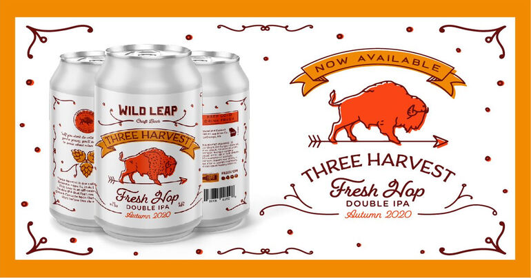 Wild Leap Brew Co.'s Three Harvest Fall 2020 Features Cascade Hops
