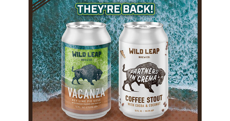 Wild Leap Brew Co. Announces Return of Vacanza and Partners in Crema