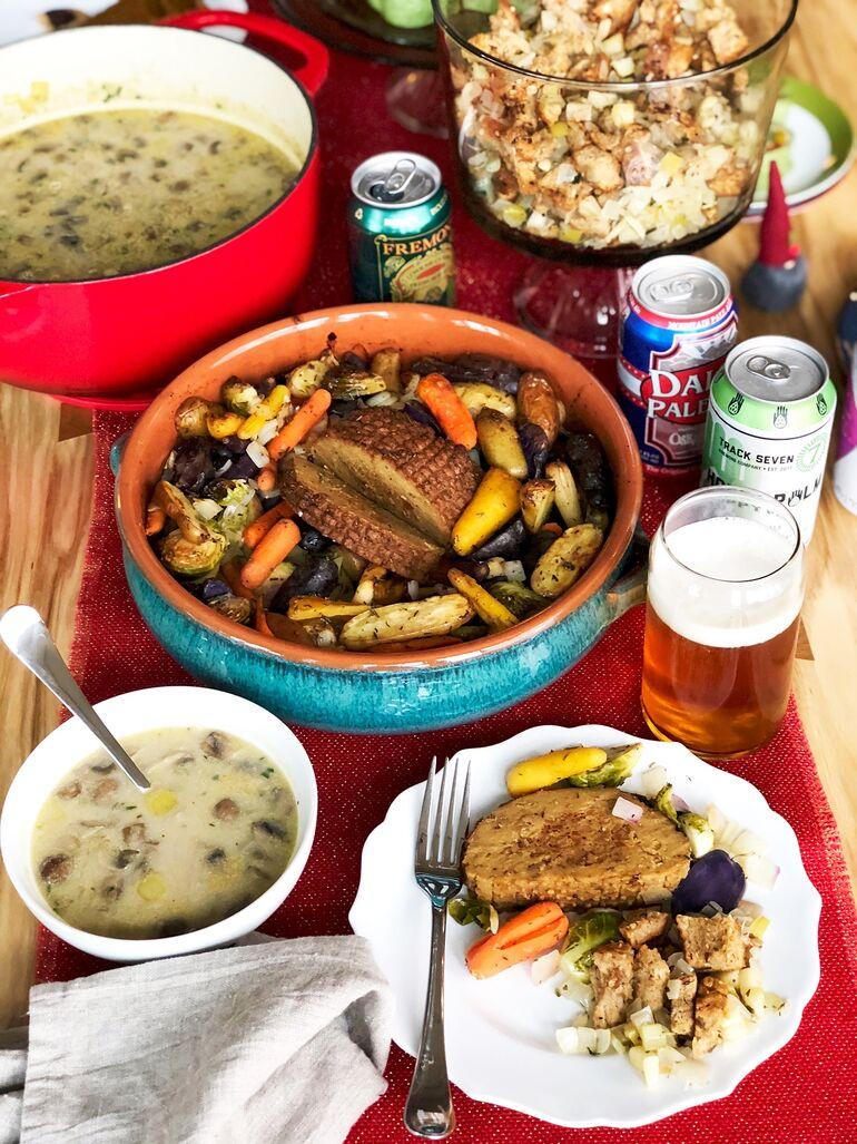 Vegan Holiday Beer Feast