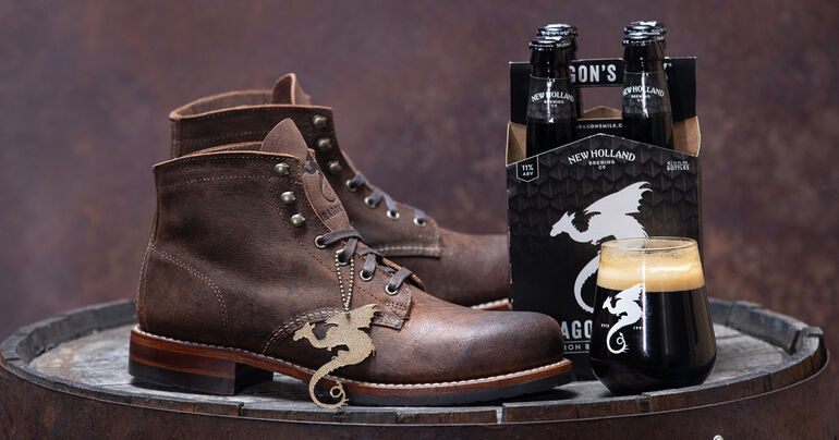 Wolverine Boots Releases New Holland Dragon's Milk-Themed Boot for Beer's 20th Anniversary