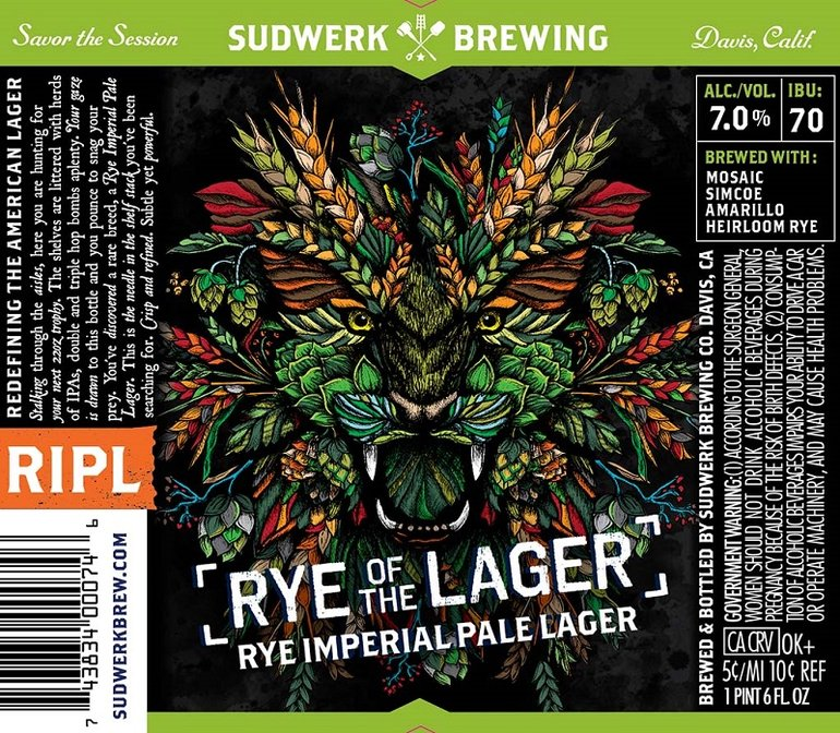 Sudwerk Brewing Rye of the Lager Beer Connoisseur