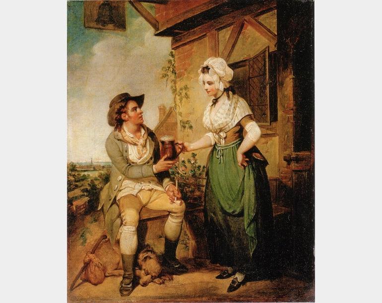 The Ale-House Door, Henry Singleton, 1790