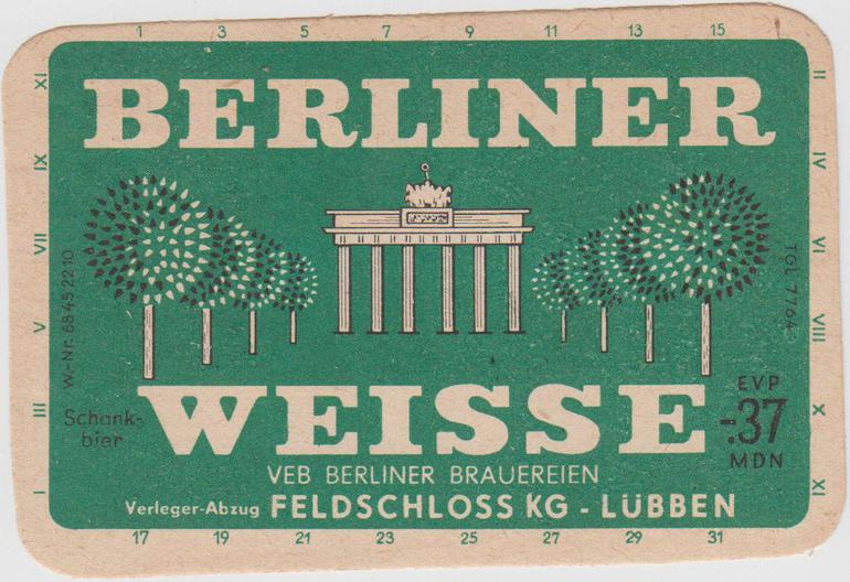 Berliner Weisse Old Advertisement