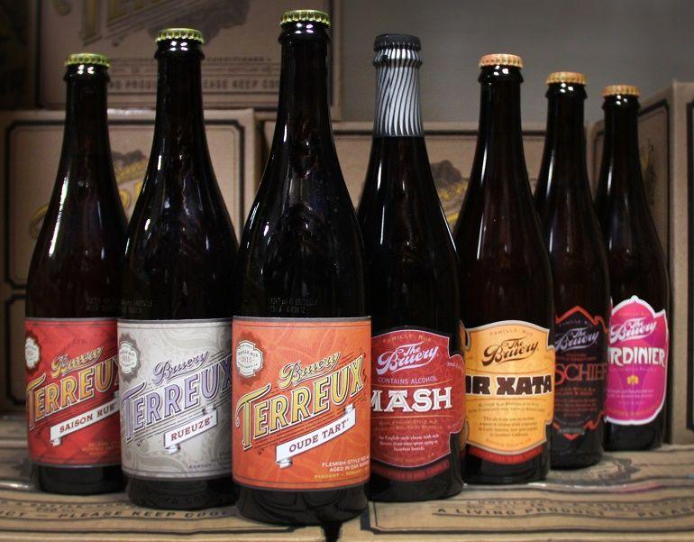 Bruery Beer Bottles
