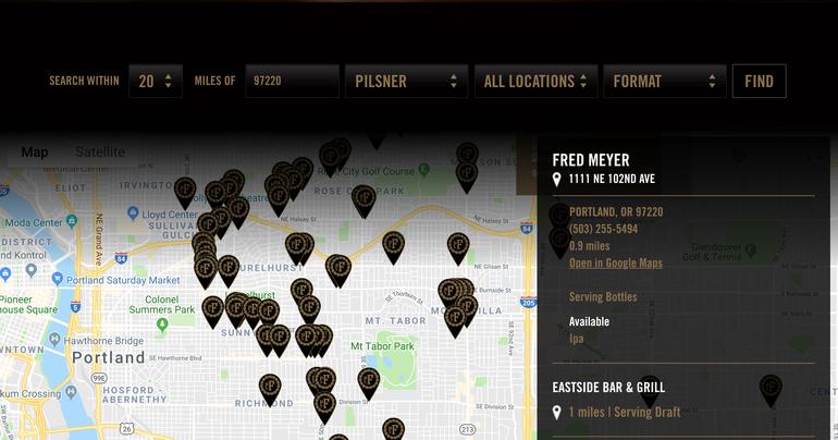 pFriem Family Brewers Debuts Online Beer Finder
