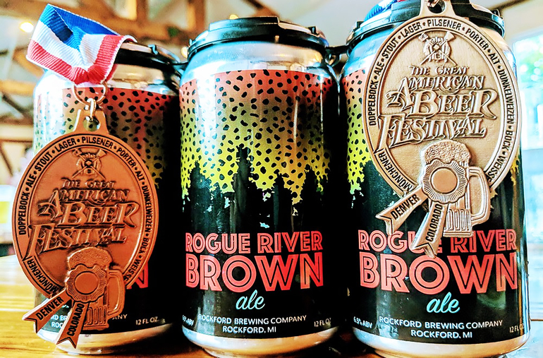 Rockford Brewing Co. Debuts Rogue River Brown in Cans
