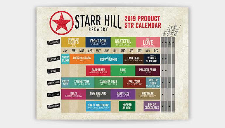 Starr Hill Brewery Unveils 2019 Beer Release Calendar