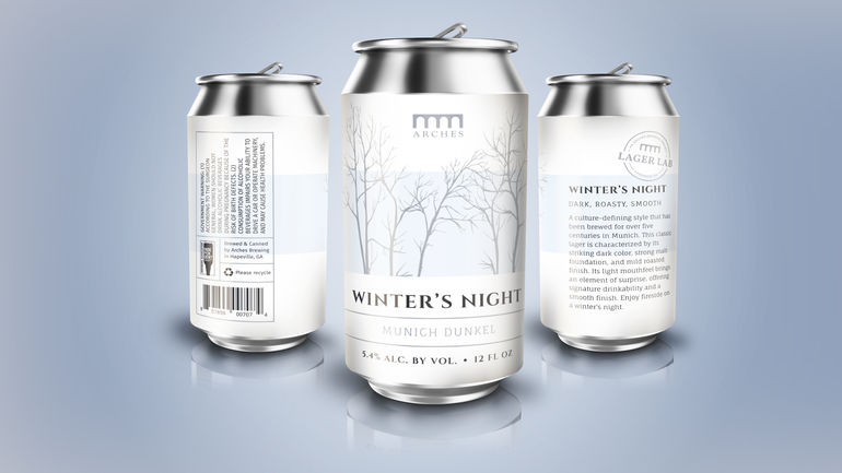 Arches Brewing Debuts Winter's Night Munich Dunkel in Cans