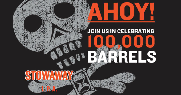Baxter Brewing Brews 100,000th Barrel of Stowaway IPA