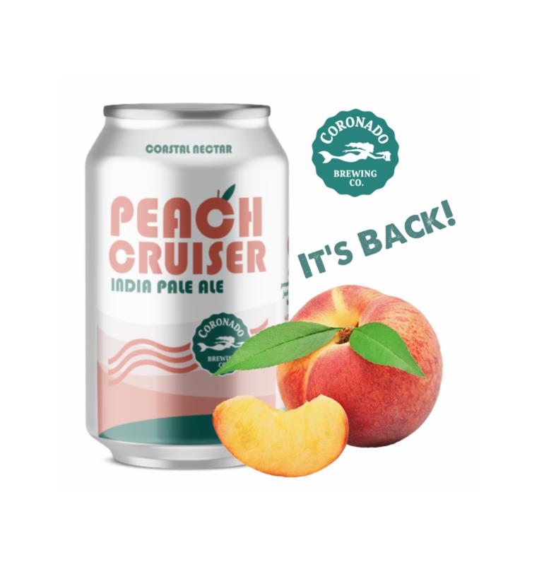 Coronado Brewing's Peach Cruiser Returns for Summer