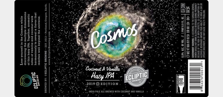 Ecliptic Brewing Unveils Cosmos Coconut Vanilla Hazy IPA