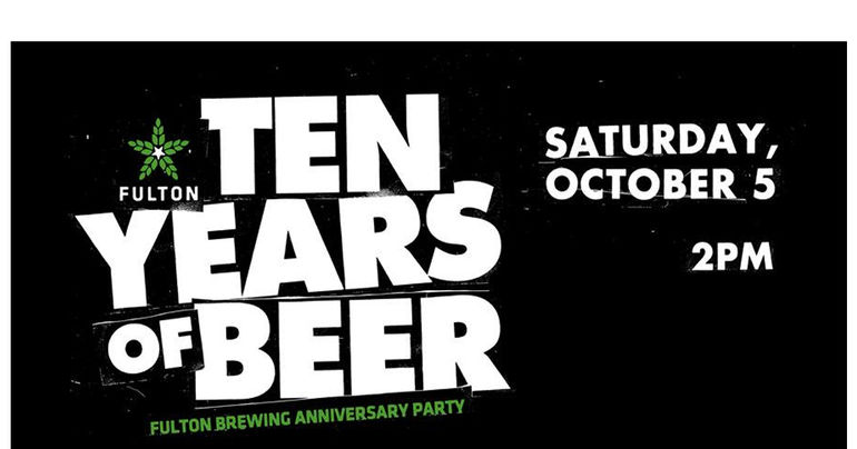 Fulton Brewing's 10 Year Anniversary Slated for October 5