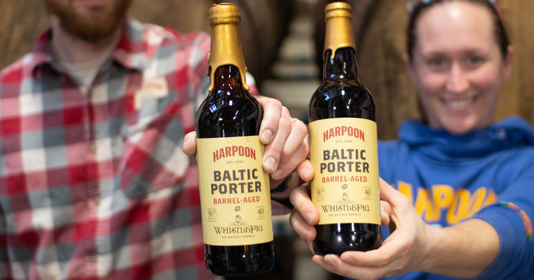 Harpoon Brewery Collaborates with WhistlePig to Create Barrel-Aged Baltic Porter