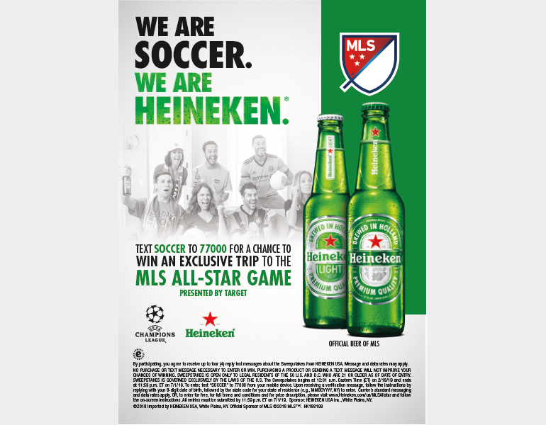 Heineken Partners with UEFA Champions League and Major League Soccer in 2019