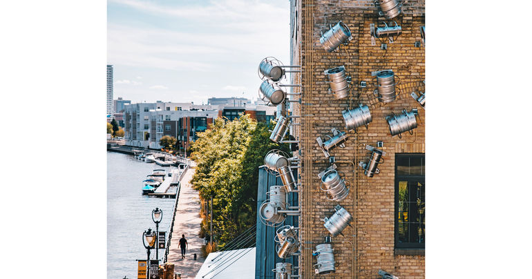 Lakefront Brewery Unveils Kegnado Public Art Installation