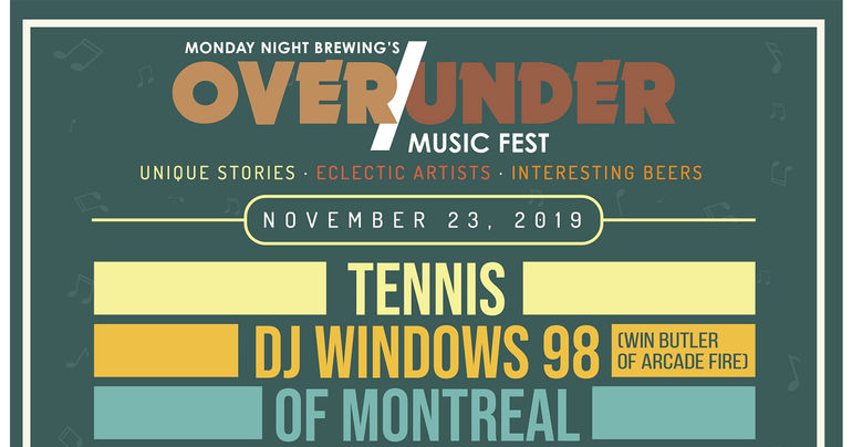 Monday Night Brewing Announces OVER/UNDER Music Festival