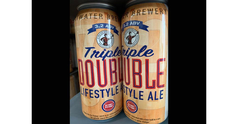 Detroit Pistons and Atwater Brewery Create New Beer: Triple Double Low-Calorie Ale