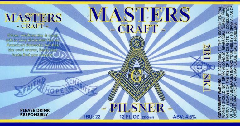 RavenBeer Unveils Masters Craft Pilsner, a Masonic Beer