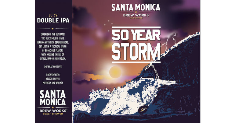 Santa Monica Brew Works 50 Year Storm Juicy Double IPA Returns