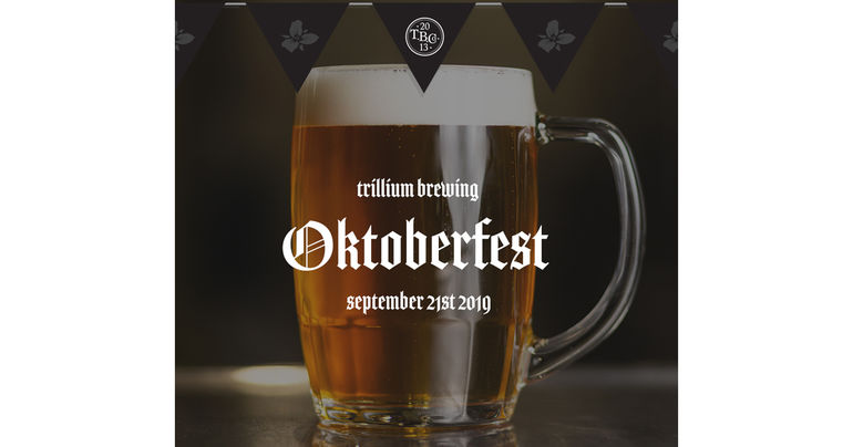 Trillium Brewing Co. Announces Date for 2019 Oktoberfest