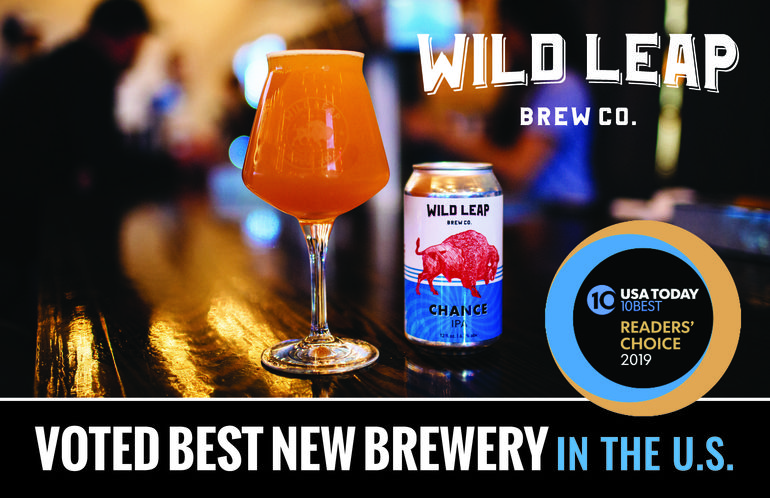 Wild Leap Brew Co. Named Best New Brewery by USA Today's 10Best