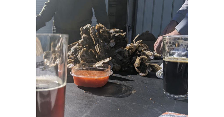 Holy City Brewing Hosts Oyster Roast with Bowens Island