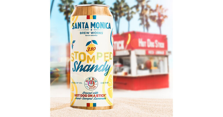Santa Monica Brew Works Teams Up with Hot Dog on a Stick to Release Stomped Shandy