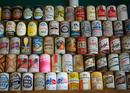 Rare old beer cans.