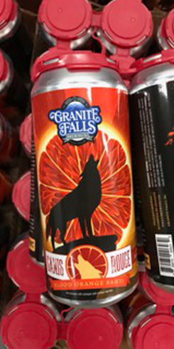 Canis Rouge Blood Orange Sahti by Granite Falls Brewing Co.