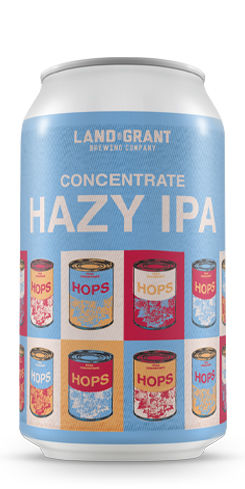 Concentrate Hazy IPA, Land-Grant Brewing Co.