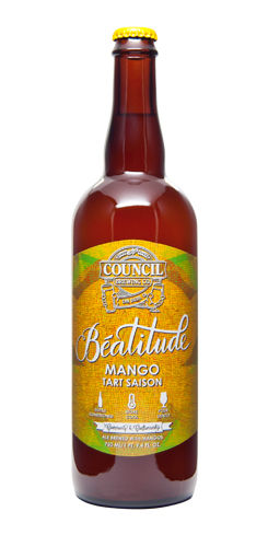 Council brewing Beatitude Mango Tart Saison beer