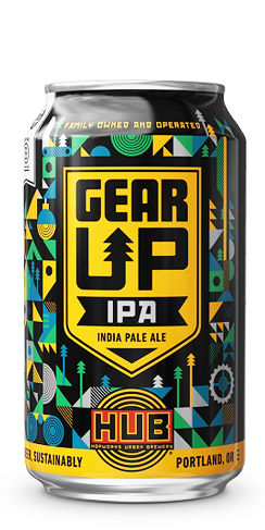 HUB Hopworks Urban Brewery Gear UP IPA beer